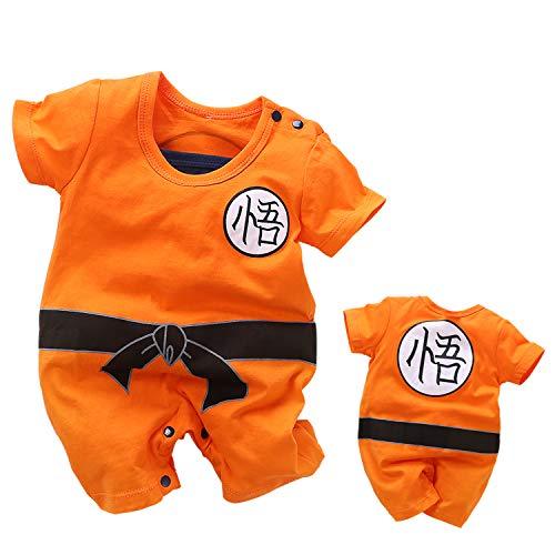 YFYBaby - Conjunto de Mono para bebé con diseño de Dragon Ball Z - Naranja - (6-9 Meses)