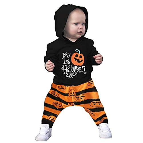 Disfraz Halloween Niño Fossen 1-4 años Niña Calabaza Pequeño Diablo Camisetas + Pantalones (2...