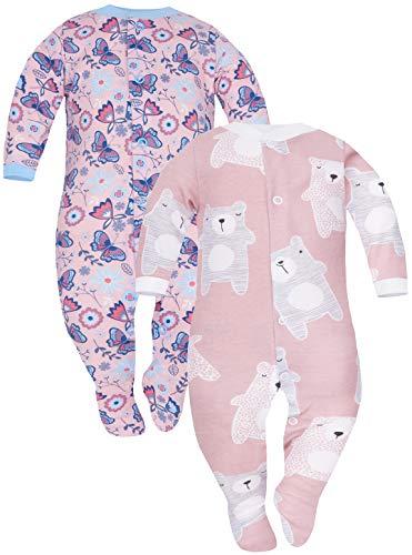 Sibinulo Nino Nina Pijama Bebé Pelele de ABS Pack de 2 Koala Rosa Prado Rosa 92(18-24 Meses)
