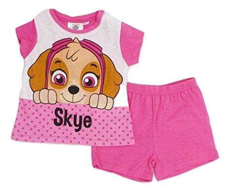 Paw Patrol - Pijama corto para bebé rosa oscuro 9 mes