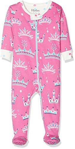 Hatley Organic Cotton Footed Sleepsuit Pijama, Rosa (Pretty Princesses 650), 18-24 Meses (Talla del...