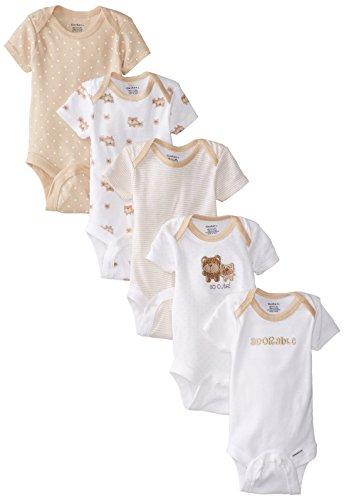 Gerber Enterizo para niña (5 unidades) - marr�n - 0-3 meses