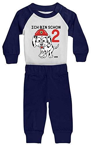 Hariz - Pijama para bebé, diseño de dos bomberos con texto en alemán 'Ich Bin Schon'