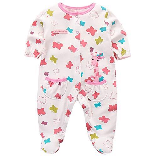 Recién Nacido Pijama Bebé Pelele Niñas Mameluco Algodón Caricatura Trajes 9-12 Meses