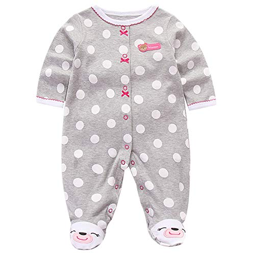 Recién Nacido Pijama Bebé Pelele Niñas Mameluco Algodón Caricatura Trajes 0-3 Meses
