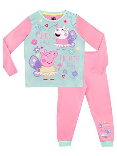 Peppa Pig Pijamas de Manga Larga para niñas Hadas Rosa 2-3 Años