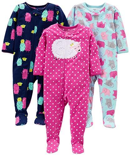 Simple Joys by Carter's pijama de forro polar suelto para bebés y niñas pequeñas, paquete de 3...