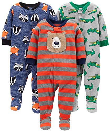 Simple Joys by Carter's pijama de forro polar suelto para bebés y niños pequeños, paquete de 3...