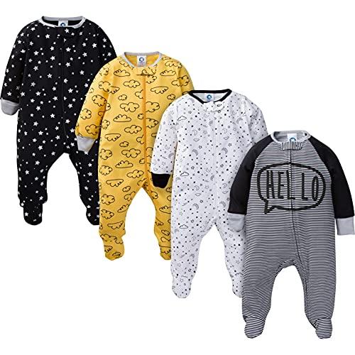 Gerber Baby Boys' 4-Pack Sleep 'N Play, Star, 6-9 Months