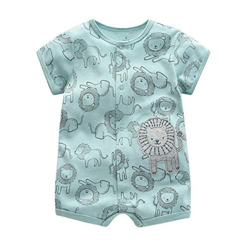 Minizone Mameluco del bebé muchachos del verano del mono de manga corta del mono recién nacido...