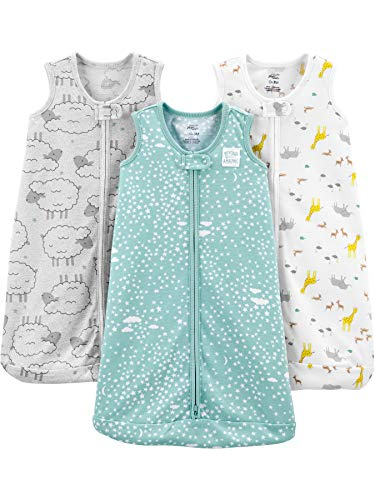 Simple Joys by Carter's Baby - Bolsa de Dormir sin Mangas de Poli para bebé, 3 – 6 Meses