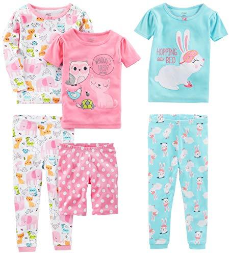 Simple Joys by Carter's - Pijamas enteros - Juego de pijama de algodón de ajuste cómodo de 6...