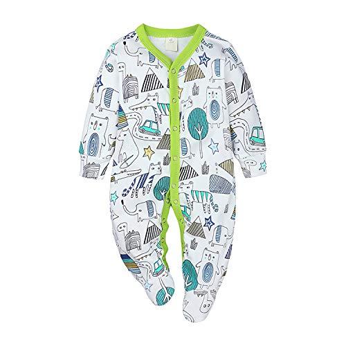 Nwada Ropa Bebe Niña Verano Pelele Niño Body Recien Nacido Mono Camisa Mameluco Verde Disfraz...