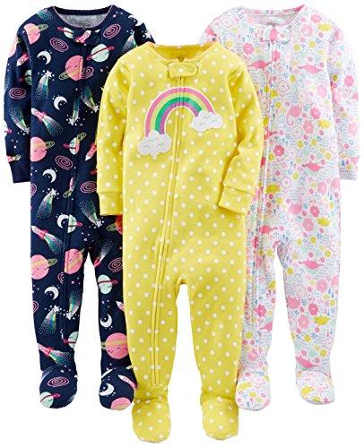 Simple Joys by Carter's pijama de algodón para bebés y niñas pequeñas, 3 unidades ,Dinosaur,...