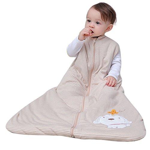 Saco de dormir para niños de manga larga, de algodón, para bebés, bebés y niños de 2,5 tog...