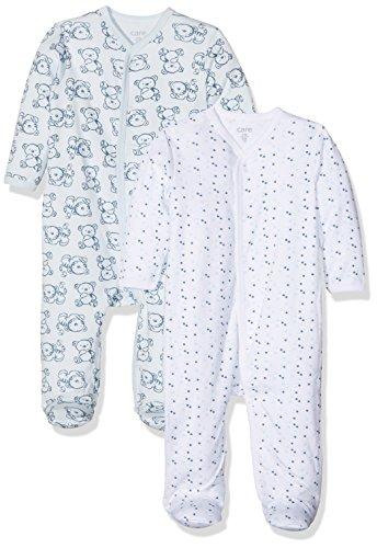 Care Pijama para Bebé Niño, Pack de 2 Blau (Light blue 700) 18 meses (Talla del fabricante: 86)