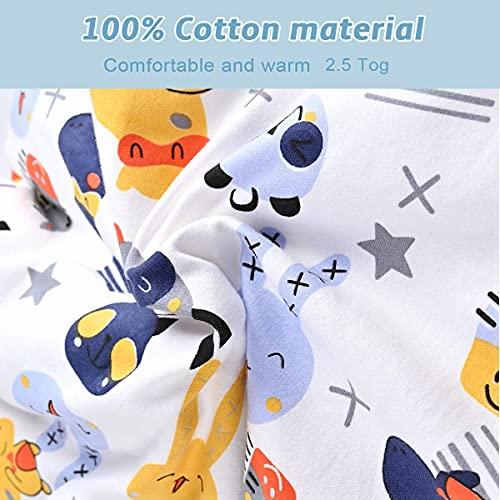 Saco de dormir para bebé de Nabance, 2,5 tog, 100% algodón, ligero, longitud ajustable, 90 – 110...