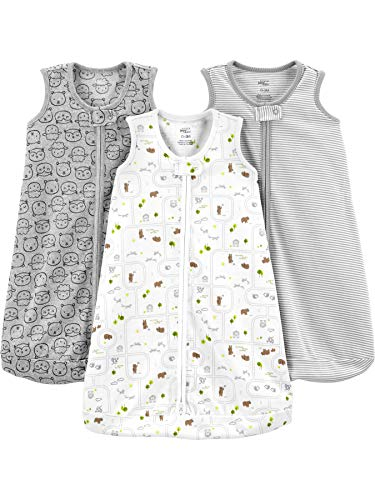 Simple Joys by Carter's Saco de Dormir sin Mangas de algodón para bebé, Paquete de 3 Unidades, 0-3...
