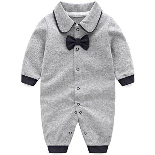 Bebé Mameluco Algodón Pelele Pijama Manga Larga Trajes de caballero 3-6 Meses