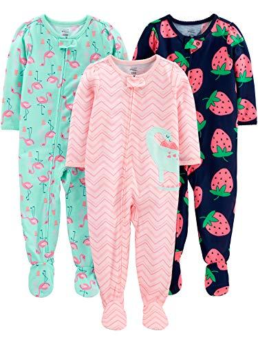 Simple Joys by Carter's pijama de poliéster suelto para bebés y niñas pequeñas, paquete de 3...