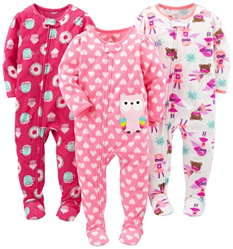 Simple Joys by Carter's Infant-and-Toddler-Sleepers, Superhero/Donut/Owl, 24 meses