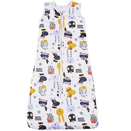 Nabance - Saco de dormir para bebé (algodón, 100% peso ligero, 2,5 tog, con cremallera, de...