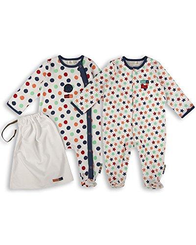 The Essential One - Pijama Pijamas para bebé niños - Paquete de 2-12-18 Meses - ESS167