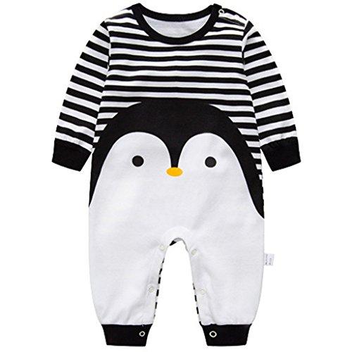 Bebés Pijama Algodón Mameluco Niñas Niños Peleles Sleepsuit Caricatura Trajes, 6-9 Meses