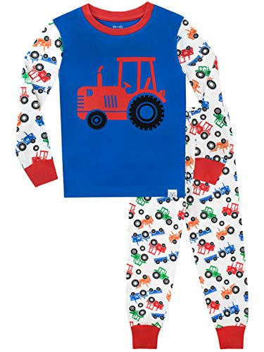 Harry Bear Pijamas de Manga Larga para niños Tractor Ajuste Ceñido Multicolor 3-4 Años