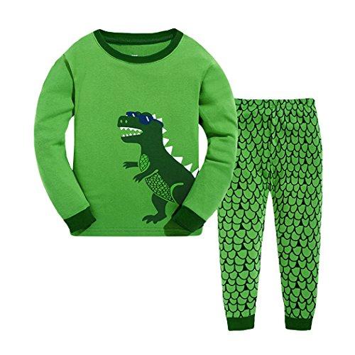 Tkria - Pijama para Niños de Dinosaurio 1 Años - 7 Años