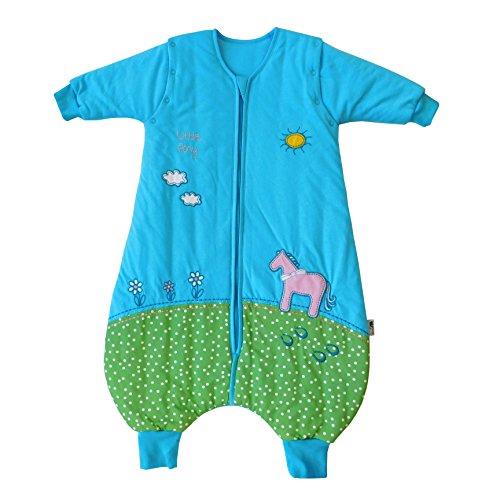 Saco de dormir Slumbersac para bebé con pies y mangas largas desmontables Grosor 2.5 -Poni - 12-18...
