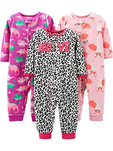 Simple Joys by Carter's - Pelele para dormir - para bebé niña multicolor Fox/Dino/Leopard Print 12...