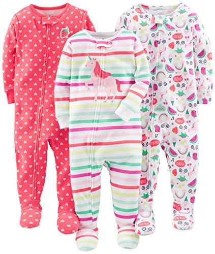 Simple Joys by Carter's pijama de algodón para bebés y niñas pequeñas, 3 unidades...