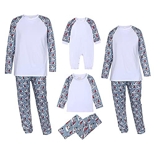 NCTCITY Pijama Familiar de Navidad 2 Piezas Conjuntos Top Blusa de Manga Larga + Pantalones Recién...