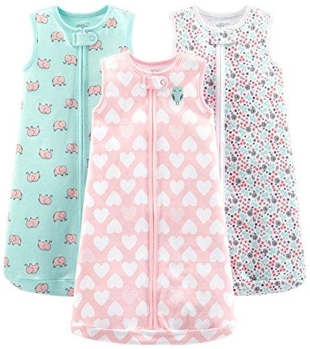 Simple Joys by Carter's - Saco de dormir - para bebé multicolor Pink Heart, Floral, Mint Elephants...