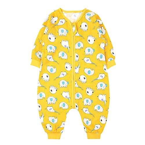 Bebé Saco de Dormir con Pies Verano Pijama Manga Larga Mono Muselina de Algodón Transpirable...