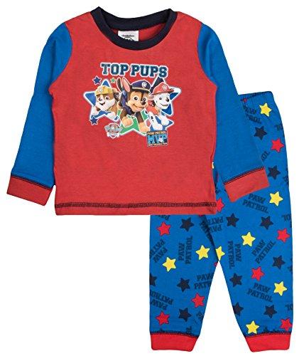 Paw Patrol - Pijama largo para bebé Top Pups - Rojo/Azul Marino 18-24 meses