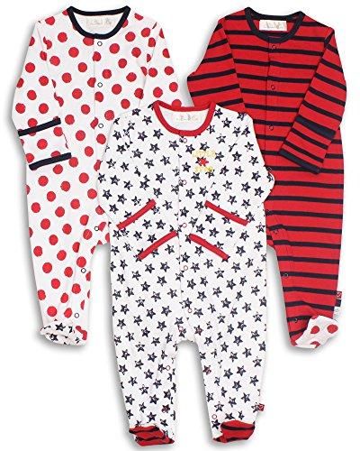 The Essential One - Pijama para bebé - Paquete de 3-3-6 Meses ESS36