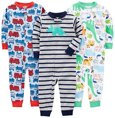 Simple Joys by Carter's - Pijama entero - para bebé niño multicolor Fire Truck/Dino/Animals...