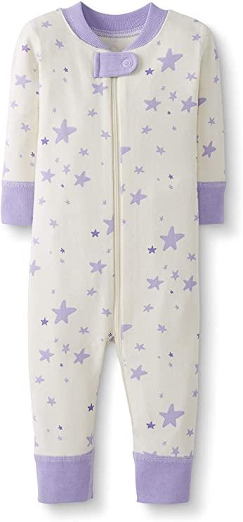 Moon and Back de Hanna Andersson Conjunto de pijama de 2 piezas de manga larga hecho de algod/ón org/ánico y con dise/ño a rayas para beb/é